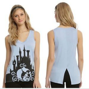 Hot Topic Disney Cinderella Cut Back Tank Top